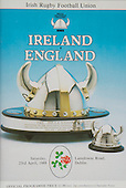 Rugby 1988-23/04 Five Nations Ireland Vs England