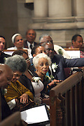 Ruby Dee at the Celebration of the Life and Legacy of Dr. Barabara Ann Teer at the Memorial Service held at The Riverside Church in Harlem, NY on Monday, July 28, 2008