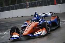 July 14, 2018 - Toronto, Ontario, Canada - SCOTT DIXON (9) of New Zealand attempts to qualify in the rain for the Honda Indy Toronto at Streets of Toronto in Toronto, Ontario. (Credit Image: © Justin R. Noe Asp Inc/ASP via ZUMA Wire)