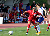 Fifa Womans World Cup Canada 2015 - Preview //<br /> Cyprus Cup 2015 Tournament ( Gsz Stadium Larnaca  - Cyprus ) - <br /> Canada vs South Korea 1-0  //  Adriana Leon of Canada (L), challenges with YOO Younga of South Korea (R)