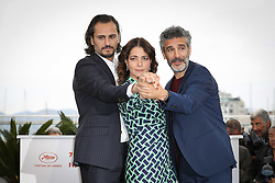 """Leonardo Sbaraglia, Asier Etxeandia, Nora Navas attend the """"Pain And Glory (Dolor Y Gloria/ Douleur Et Glorie)"""" photocall during the 72nd annual Cannes Film Festival on May 18, 2019 in Cannes, France Photo by Shootpix/ABACAPRESS.COM"""