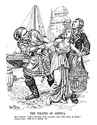 "The Pirates of Geneva. Wild Robert. ""Once aboard the Lugger and the girl is mine!"" Gentle John. ""Not if I know it."""
