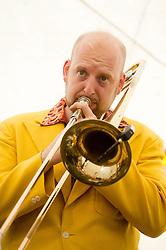 On Trombone is Alex Douglas..9 September 2012.Image © Paul David Drabble