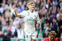 Real Madrid's Toni Kroos celebrates goal during La Liga match.December 09,2017. (ALTERPHOTOS/Acero)