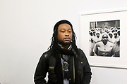 New York, NY-Jan. 11: Photographer Jati Lindsay attends the Gordon Parks: I AM YOU Opening Reception presented by the Gordon Parks Foundation  held at the Jack Shanmain Gallery on January 11, 2018 in New York City.  (Photo by Terrence Jennings/terrencejennings.com)