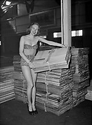 "Ackroyd 00025-18. ""Girls at Sport Show. May 7, 1947"" (bikini-clad girls with saws and woodworking tools)"