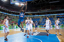 Boris Diaw #13 of France dunks during basketball match between national team of Serbia and France of Eurobasket 2013 on September 15, 2013 in SRC Stozice, Ljubljana, Slovenia. (Photo By Matic Klansek Velej / Sportida.com)