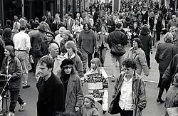Crowd of people, Nottingham UK 1990s