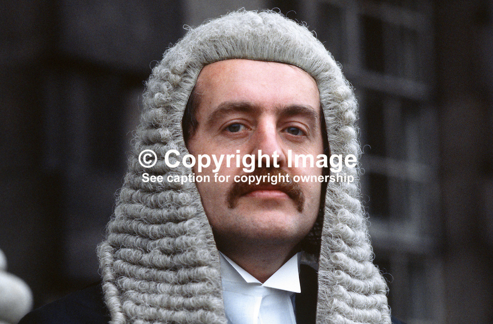 David Hunter, QC, barrister, N Ireland, UK, 19850003DH.<br /> <br /> Copyright Image from Victor Patterson, Belfast, UK<br /> <br /> t: +44 28 9066 1296 (from Rep of Ireland 048 9066 1296)<br /> m: +44 7802 353836<br /> e: victorpattersonbelfast@gmail.com<br /> <br /> www.images4media.com<br /> <br /> Please see my full Terms and Conditions of Use at https://www.images4media.com/p/terms-conditions - it is IMPORTANT that you familiarise yourself with them.<br /> <br /> Images used online incur an additional cost. This cost should be agreed in writing in advance. Online images must be visibly watermarked i.e. © Victor Patterson or that of the named photographer within the body of the image. The original metadata must not be deleted from images used online.<br /> <br /> This image is only available for the use of the download recipient i.e. television station, newspaper, magazine, book publisher, etc, and must not be passed on to a third party. It is also downloaded on condition that each and every usage is notified within 7 days to victorpattersonbelfast@gmail.com.<br /> <br /> The right of Victor Patterson (or the named photographer) to be identified as the author is asserted in accordance with The Copyright Designs And Patents Act (1988). All moral rights are asserted.