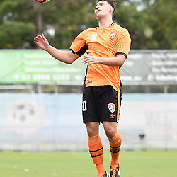 BRISBANE, AUSTRALIA - DECEMBER 10: Nicholas Panetta of the Roar in action during the round 5 Foxtel National Youth League match between the Brisbane Roar and Adelaide United at AJ Kelly Field on December 10, 2016 in Brisbane, Australia. (Photo by Patrick Kearney/Brisbane Roar)