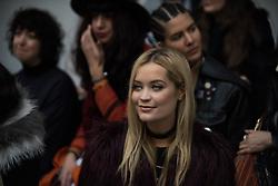 Laura Whitmore At London Fashion Week AW16 during Holly Fulton Presentation