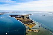 Nederland, Zeeland, Gemeente Schouwen-Duiveland, 01-04-2016; Grevelingen, het grootste zoutwatermeer van West-Europa met ide voormalige zandplaat Veermansplaat, nu eiland. Grevelingenmeer  is ontstaan door afsluiting van de zeearm door middel van de Brouwersdam.<br /> Grevelingen (or Grevelingenmeer) the largest saltwater lake in Western Europe.<br /> <br /> luchtfoto (toeslag op standard tarieven);<br /> aerial photo (additional fee required);<br /> copyright foto/photo Siebe Swart