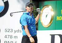 Golf - 2019 BMW PGA Championship - Thursday, First Round<br /> <br /> A dejected Rory McIlroy of Ireland after hitting 3 balls off the tee at the 18th at the West Course, Wentworth Golf Club.<br /> <br /> COLORSPORT/ANDREW COWIE