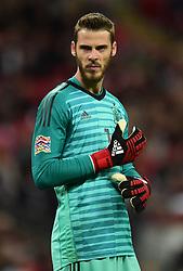 David de Gea of Spain - Mandatory by-line: Alex James/JMP - 08/09/2018 - FOOTBALL - Wembley Stadium - London, United Kingdom - England v Spain - UEFA Nations League