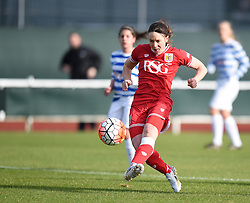 Corinne Yorston defender for Bristol City Women scores against QPR Ladies - Mandatory by-line: Paul Knight/JMP - Mobile: 07966 386802 - 14/02/2016 -  FOOTBALL - Stoke Gifford Stadium - Bristol, England -  Bristol Academy Women v QPR Ladies - FA Cup third round