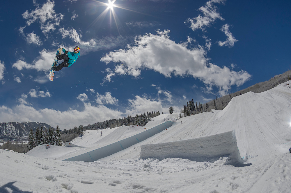 Sarka Pancochov performs at the RedBull Performance Camp in Aspen Colorado, United States on April 14th, 2013