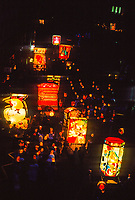 At 4 AM, Morgenstreich, a parade of carnival cliques behind lanterns, begins the Basel Fasnacht (Carnival), Basel, Switzerland.