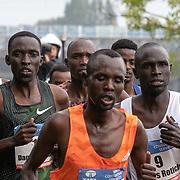 20-10-2019: Atletiek: TCS Amsterdam Marathon: Amsterdam,  km 15, langs de Amstel, Daniel Kemboi, Marathon Amsterdam, Lucas Rotich, Enos Kakopil