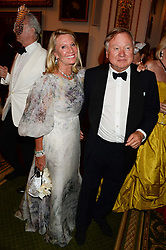 SIR ANTHONY & LADY BAMFORD at The Animal Ball in aid of The Elephant Family held at Lancaster House, London on 9th July 2013.