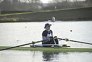 Eton, GREAT BRITAIN,  Beth RODFORD, W1X, waits at the Start, GB Trials 3rd Winter assessment at,  Eton Rowing Centre, venue for the 2012 Olympic Rowing Regatta, Trials cut short due to weather conditions forecast for the second day Sunday  13/02/2011   [Photo, Karon Phillips/Intersport-images]