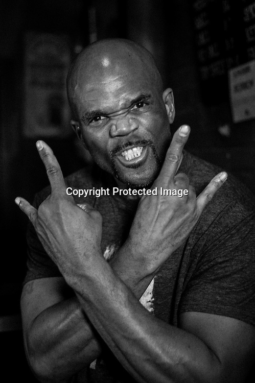Darryl 'DMC' McDaniels poses for a portrait during the Rock The Vote 25th Anniversary Concert at The Black Cat.