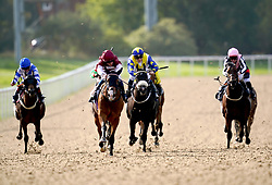 Pocket The Profit ridden by William Buick (centre left) on their way to winning the Champions Day On Sky Sports Racing Nursery at Wolverhampton racecourse. Picture date: Monday October 11, 2021.