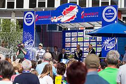 02.07.2013, Osttirol, AUT, 65. Oesterreich Rundfahrt, 3. Etappe, Heiligenblut - Matrei in Osttirol, im Bild Riccardo Zoidl (AUT, Gourmetfein Simplon) feiert sein Trikot als bester Österreicher // during the 65 th Tour of Austria, Stage 3, from Heiligenblut to Matrei, Tyrol, Austria on 2013/07/02. EXPA Pictures © 2013, PhotoCredit: EXPA/ Johann Groder