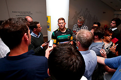 Dylan Hartley of Northampton Saints is interviewed at the Aviva Premiership Rugby 2017/18 season launch - Mandatory by-line: Robbie Stephenson/JMP - 24/08/2017 - RUGBY - Twickenham - London, England - Premiership Rugby Launch