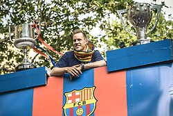 April 30, 2018 - Barcelona, Catalonia, Spain - FC Barcelona goalkeeper TER STEGEN during the FC Barcelona's open top bus victory parade after winning the LaLiga with their eighth double in the club history. (Credit Image: © Matthias Oesterle via ZUMA Wire)