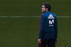 March 26, 2018 - Madrid, Madrid, Spain - Marcos Alonso (Chelsea) during the training of the Spanish soccer team, before the friendly match between Spain and Argentina., on March 27, 2018. Wanda Metropolitano Stadium, Madrid, Spain. (Credit Image: © Jose Breton/NurPhoto via ZUMA Press)