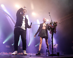 Lewis Capaldi surprises fans with Nina Nesbitt at SWG3 in Glasgow as part of her 'The Sun Will Come Up' UK Tour 2019 <br /> <br /> Pictured: Nina Nesbitt and Lewis Capaldi<br /> <br /> (c) Aimee Todd   Edinburgh Elite media