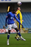 Photo: Tony Oudot/Richard Lane Photography. <br /> Millwall v Leeds United. Coca-Cola League One. 19/04/2008. <br /> Bas Savage of Millwall challenges Frazer Richardson of Leeds to the ball