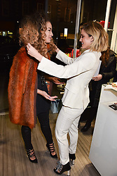 Left to right, Ella Eyre and Ashley Roberts at a party to launch Ashley Robert's new footwear range Allyn held ay Larizia, 74 St.John's Wood High Street, London England. 8 February 2017.