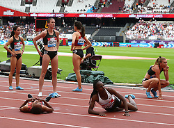July 22, 2018 - London, United Kingdom - L-R Sofia Ennaoui of Poland  Laura Weightman of Great Britain and Northern Ireland Kate Grace of USA Compete in the 1 Mile Women Millicent Fawcett during the Muller Anniversary Games IAAF Diamond League Day Two at The London Stadium on July 22, 2018 in London, England. (Credit Image: © Action Foto Sport/NurPhoto via ZUMA Press)