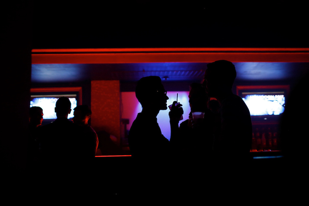 Patrons attend Homocon 2012, a party for gay conservatives sponsored by GOProud at The Honey Pot nightclub in Ybor City during the 2012 Republican National Convention on August 28, 2012.