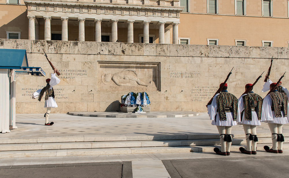 Palace guards in Athens