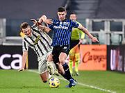 Foto Marco Alpozzi/LaPresse <br /> 16 Dicembre 2020 Torino, Italia <br /> sport calcio <br /> Juventus Vs Atalanta - Campionato di calcio Serie A TIM 2020/2021 - Allianz Stadium<br /> Nella foto:    Matthijs de Ligt (Juventus F.C.);Robin Gosens (Atalanta B.C.); <br /> <br /> <br /> Photo Marco Alpozzi/LaPresse <br /> December 16, 2020 Turin, Italy <br /> sport soccer <br /> Juventus Vs Atalanta - Italian Football Championship League A TIM 2020/2021 - Allianz Stadium<br /> In the pic:     Matthijs de Ligt (Juventus F.C.);Robin Gosens (Atalanta B.C.);