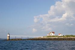 Lighthouse at Damariscove Island, near Boothbay Harbor, Maine