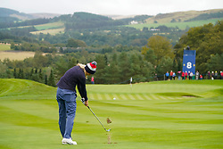 Auchterarder, Scotland, UK. 12 September 2019. Final practice day at 2019 Solheim Cup on Centenary Course at Gleneagles. Pictured; Lexi Thompson plays her approach to the 8th green. Iain Masterton/Alamy Live News