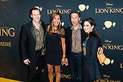 Nederlandse galapremiere van de Disney-klassieker Lion King in Pathe Tuschinski, Amsterdam.<br /> <br /> Op de foto:  Guido Spek en Patty Brard