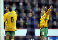 Photo: Jed Wee.<br />Sheffield United v Norwich City. Coca Cola Championship.<br />26/12/2005.<br />Norwich's Paul McVeigh (R) taunts the home fans by facing them and celebrating after scoring Norwich's equaliser.