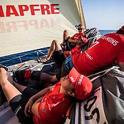 Leg Zero, Prologue, day xx  on-board MAPFRE. Photo by Jen Edney/Volvo Ocean Race. 08 October, 2017