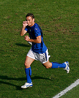 Photo: Glyn Thomas.<br /> Italy v Australia. 2nd Round, FIFA World Cup 2006. 26/06/2006.<br /> Italy's Francesco Totti celebrates after scoring his side's last-minute penalty.