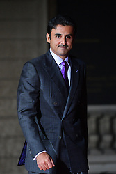 Emir of Qatar and owner of PSG Tamim Ben Hamad Al Thani arriving on eve of the commemoration of the Centenary of Armistice Day 1918 for a State Dinner in Musee d'Orsay, Paris, France on November 10th,2018. Photo by Christian Liewig/ABACAPRESS.COM