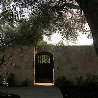 USA, California, Carmel. Holman Ranch Gate.