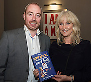03/11/2016 Repro fee: Rita Gilligan's book The Rock 'n' Roll Waitress from The Hard Rock Cafe My Life in Hotel Meyrick, Galway was launched my Cllr. Noel Larkin Mayor of Galway. At the launch were  David Pellow and Debbie Galbraith from Hard Rock Cafe  Photo :Andrew Downes, XPOSURE
