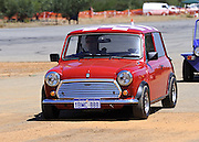 Classic red Mini Cooper S at the Caversham Historic Motoring Fair. Caversham, Perth, Western Australia.<br /> Sunday, 15th November 2009