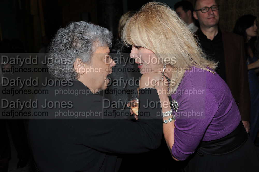 BOBBY GOLDMAN; JOANNA LUMLEY, Party following the Theatre Royal press night performance of The Lion in Winter , The Institute of Directors. London. 15 November 2011. <br /> <br />  , -DO NOT ARCHIVE-© Copyright Photograph by Dafydd Jones. 248 Clapham Rd. London SW9 0PZ. Tel 0207 820 0771. www.dafjones.com.