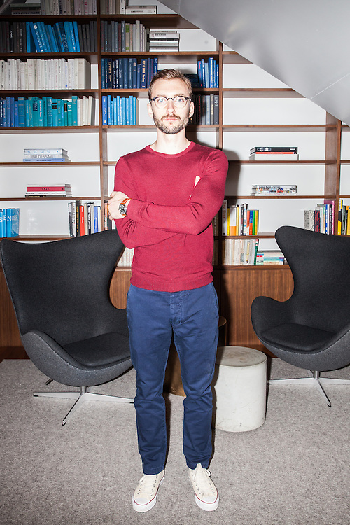 Employee at Warby Parker shot for a style story for Business Insider, 2016.