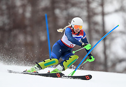 Great Britain's Kelly Gallagher competes in the Women's Slalom, Visually Impaired at the Jeongseon Alpine Centre during day nine of the PyeongChang 2018 Winter Paralympics in South Korea.